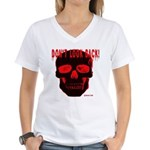 DONT LOOK BACK Women's V-Neck T-Shirt