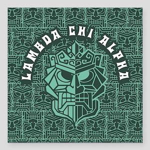 "Lambda Chi Alpha Beach Square Car Magnet 3"" x 3"""