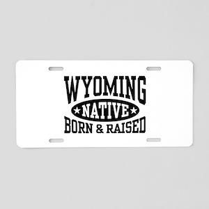 Wyoming Native Aluminum License Plate