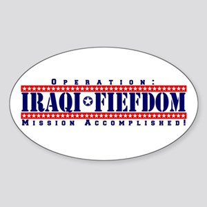 Operation: Iraqi Fiefdom - Mi Oval Sticker