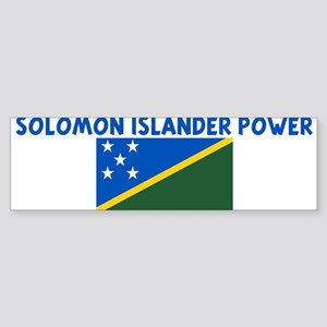 SOLOMON ISLANDER POWER Bumper Sticker