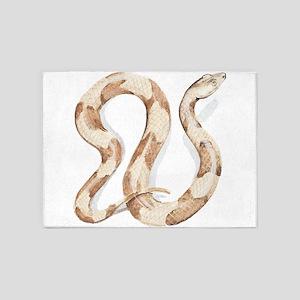 Copperhead snake 5'x7'Area Rug