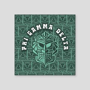 """Phi Gamma Delta Beach Square Sticker 3"""" x 3"""""""