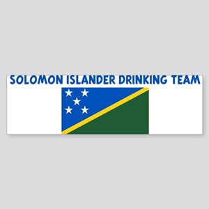 SOLOMON ISLANDER DRINKING TEA Bumper Sticker
