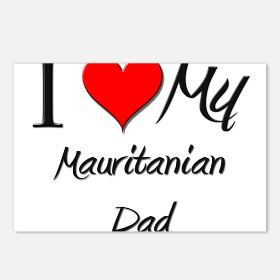 I Love My Mauritanian Dad Postcards (Package of 8)