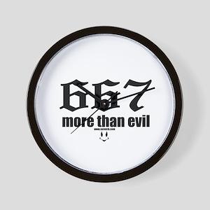 667 More Than Evil Wall Clock