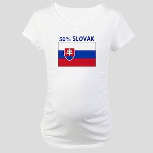 50 PERCENT SLOVAK Maternity T-Shirt