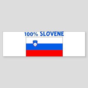 100 PERCENT SLOVENE Bumper Sticker