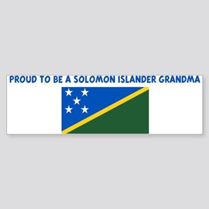 PROUD TO BE A SOLOMON ISLANDE Bumper Sticker