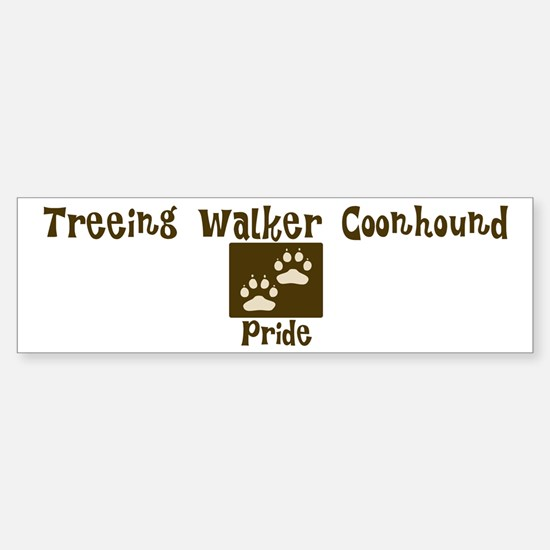 Treeing Walker Coonhound Prid Bumper Bumper Bumper Sticker
