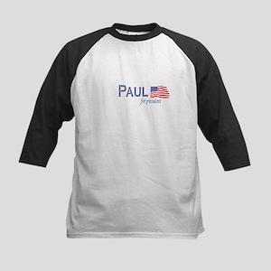 Ron Paul for president flag Kids Baseball Jersey