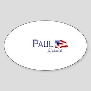Ron Paul for president flag Oval Sticker