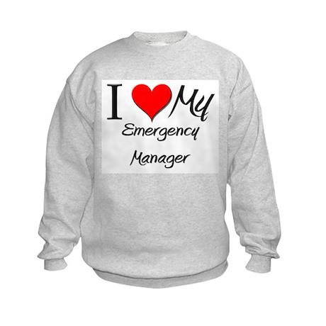 I Heart My Emergency Manager Kids Sweatshirt