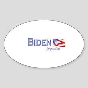 Joe Biden for president flag Oval Sticker