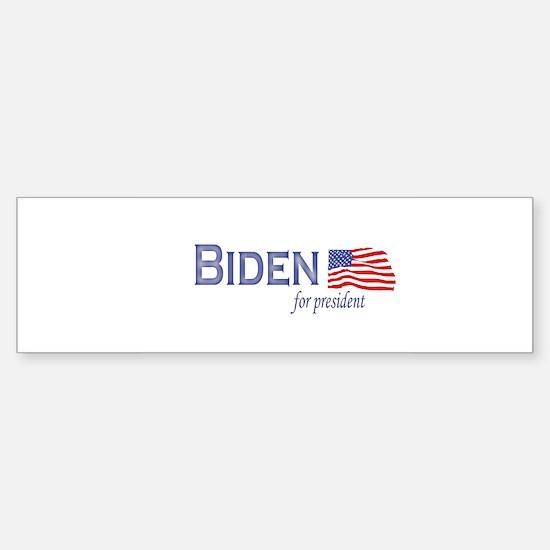 Joe Biden for president flag Bumper Bumper Bumper Sticker