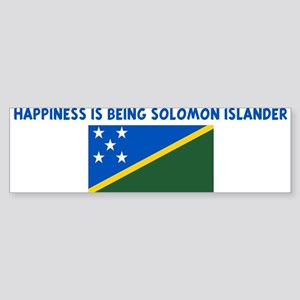 HAPPINESS IS BEING SOLOMON IS Bumper Sticker
