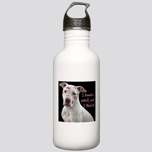 I kissed a pittbull and liked it Water Bottle