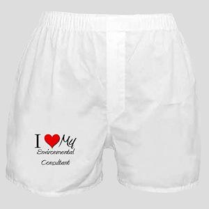 I Heart My Environmental Consultant Boxer Shorts