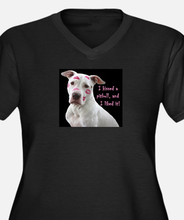 I kissed a pittbull and liked it Plus Size T-Shirt