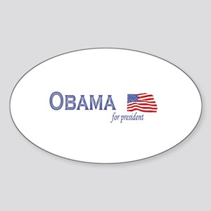 Barack Obama for president fl Oval Sticker