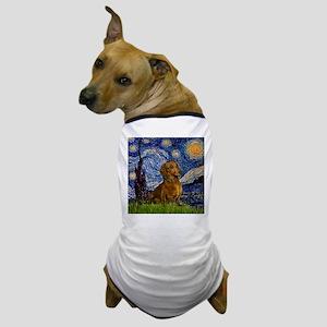 Starry Night & Dachs (#1) Dog T-Shirt