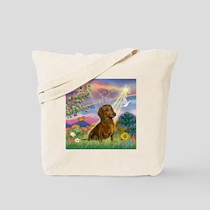 Cloud Angel & Dachshund Tote Bag
