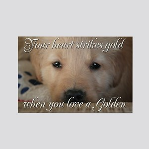 Your heart strikes gold Rectangle Magnet
