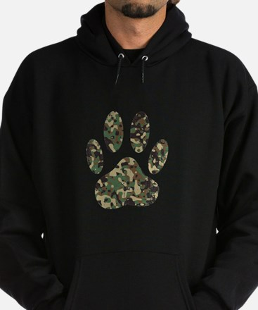 Distressed Camo Dog Paw Print Sweatshirt