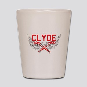 Bonnie and clyde hat Shot Glass