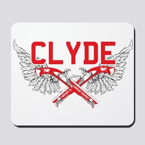 Bonnie and clyde hat Mousepad