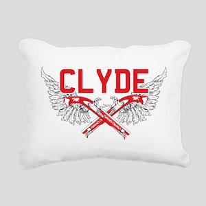 Bonnie and clyde hat Rectangular Canvas Pillow