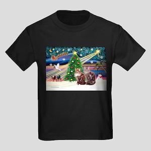 Magic / Maine Coon Kids Dark T-Shirt