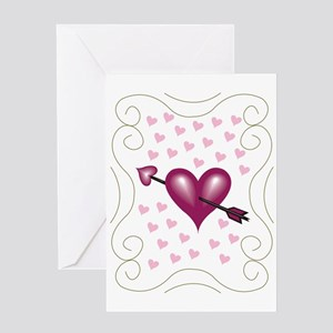 Pretty Hearts Greeting Card