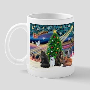 Xmas Magic/5 Persian Cats Mug
