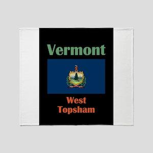 West Topsham Vermont Throw Blanket