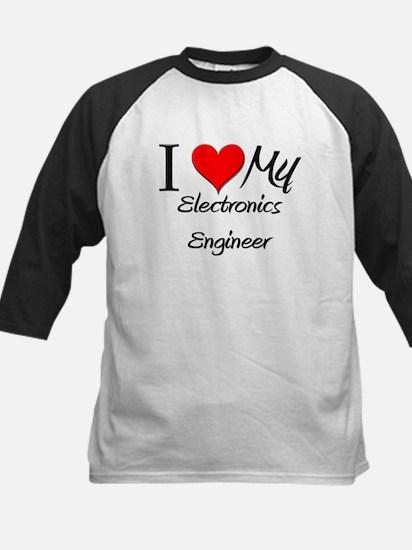 I Heart My Electronics Engineer Kids Baseball Jers
