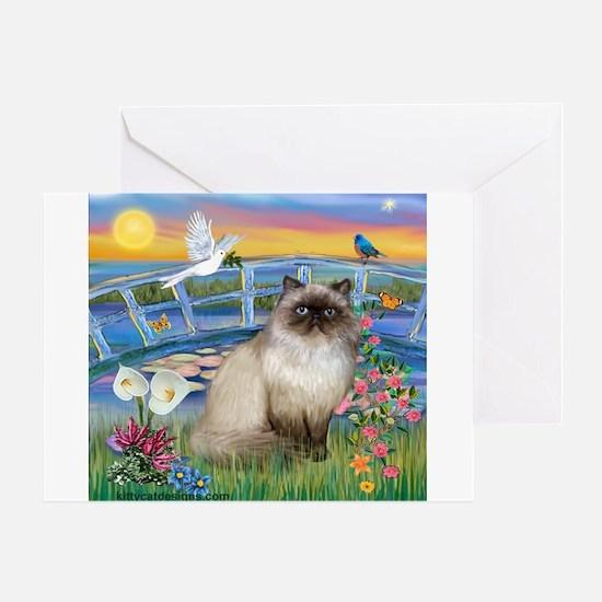 Lilies / Himalayan Cat Greeting Card