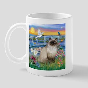 Lilies / Himalayan Cat Mug