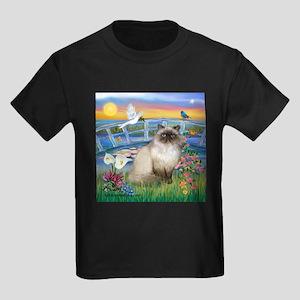 Lilies / Himalayan Cat Kids Dark T-Shirt