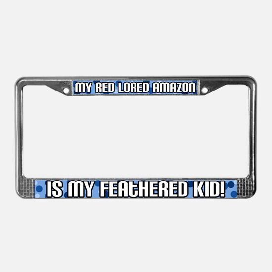 Red Lored Amazon Feathered Kid License Plate Frame