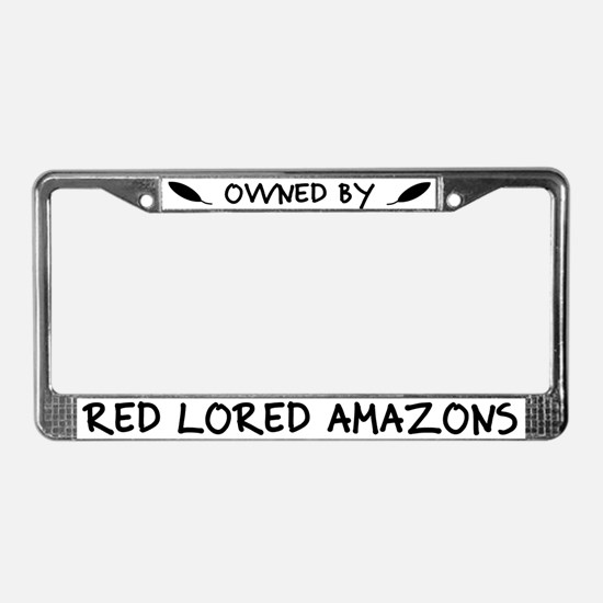 Owned by Red Lored Amazons License Plate Frame
