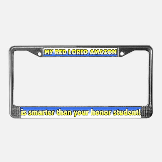 Honor Student Red Lored Amazon License Plate Frame