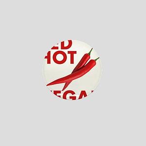 Red Hot Vegan Mini Button
