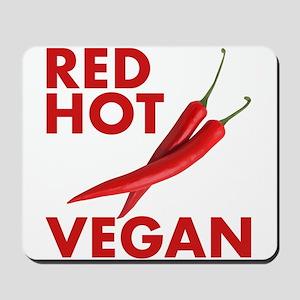 Red Hot Vegan Mousepad