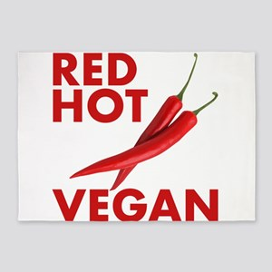 Red Hot Vegan 5'x7'Area Rug