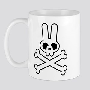 White Bunny Rabbit Skull Mug