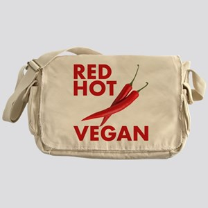 Red Hot Vegan Messenger Bag