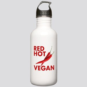 Red Hot Vegan Water Bottle