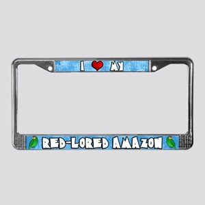 Love Red Lored Amazon License Plate Frame