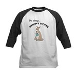 Hoppy Hour Kangaroo Kids Baseball Jersey